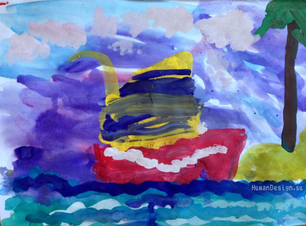 Рисунок Майтрик-Кораблик