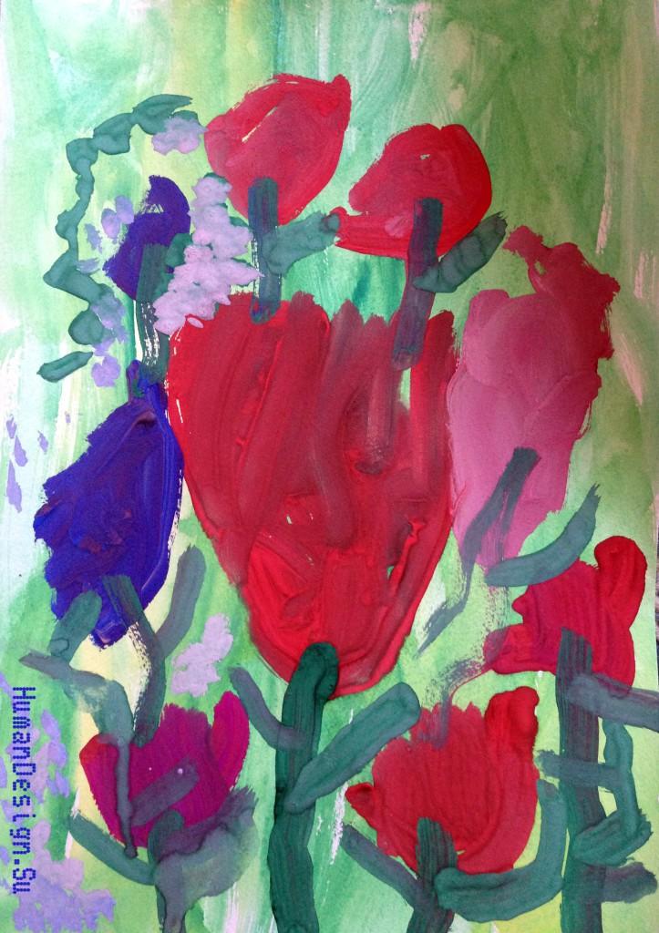 Рисунок Майтрик-Цветы